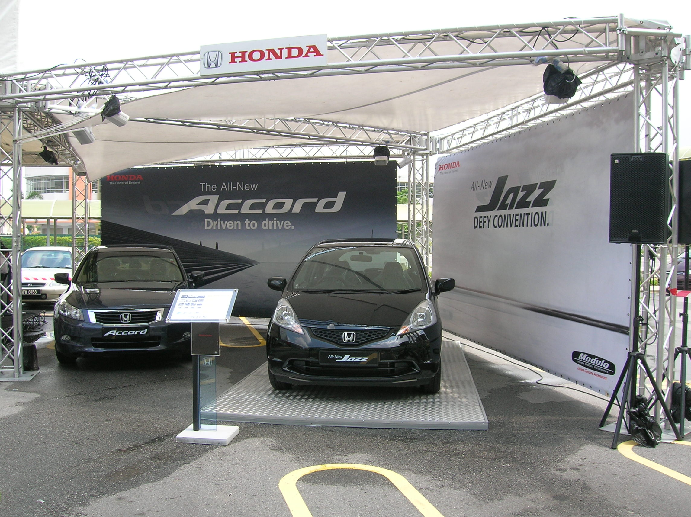 Accord and Jazz on display