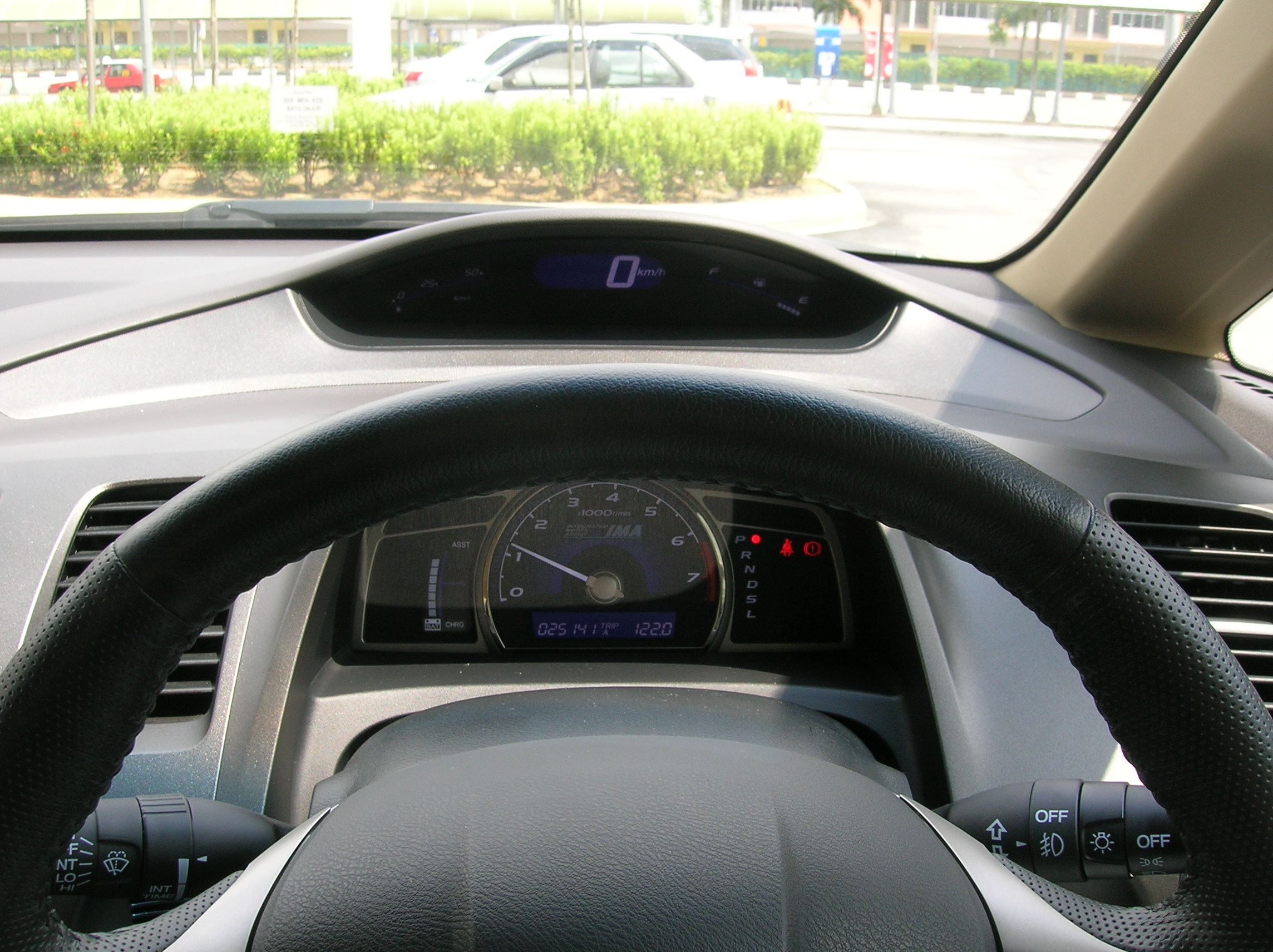 Two tiered instrument cluster.