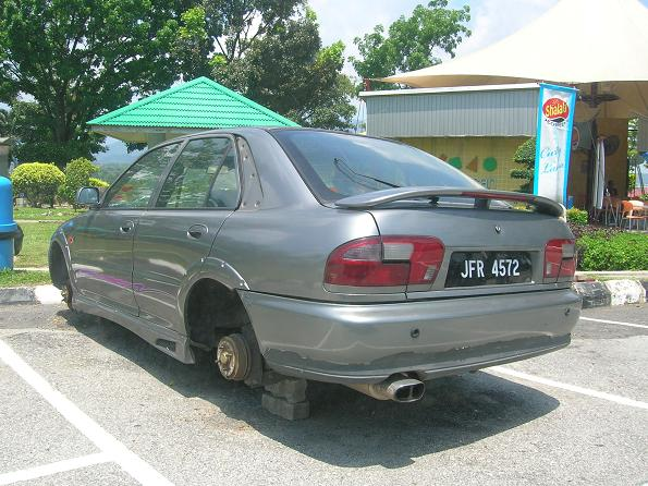Missing car - Proton Wira Aeroback JFR 4572